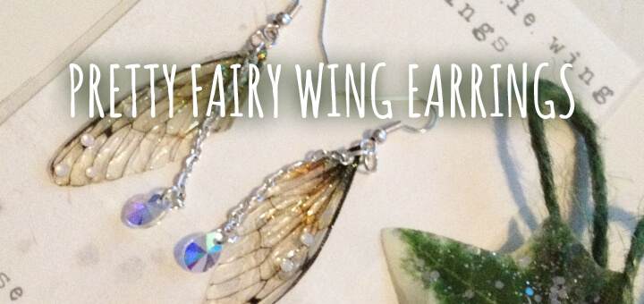 Under The Ivy: Pretty Faerie Wing Earrings