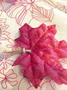 Tie twine to leaf