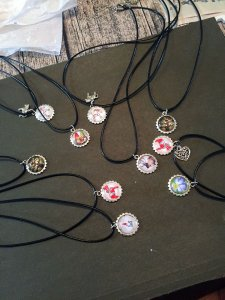 Necklaces in the making